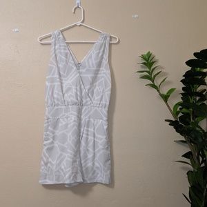Armani Exchange  Light Gray & White Romper